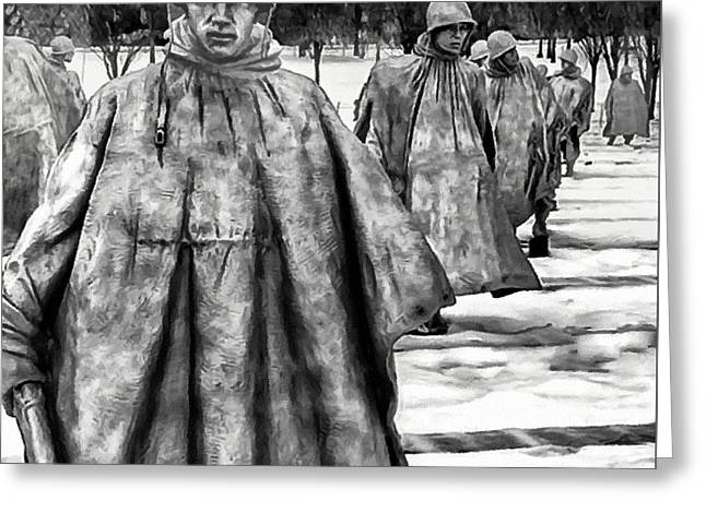 Korean War Memorial Washington Dc Greeting Card