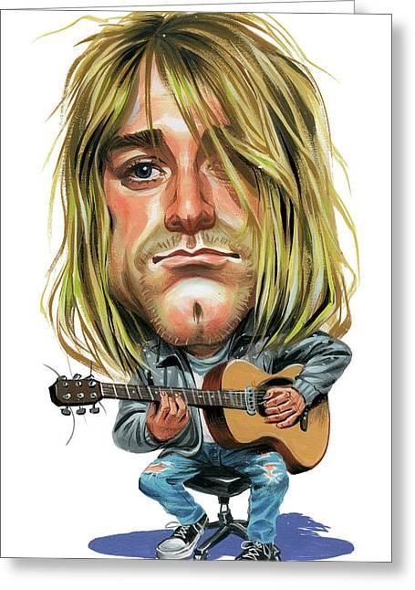 Kurt Cobain Greeting Card by Art