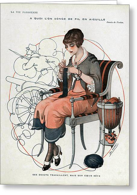 La Vie Parisienne  1916 1910s France Cc Greeting Card