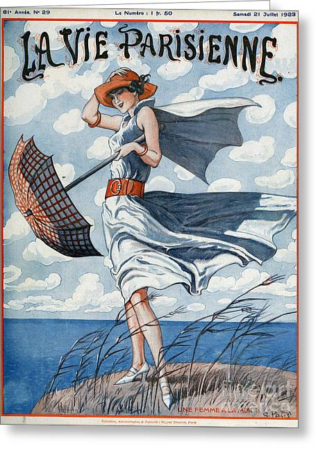 La Vie Parisienne  1923 1920s France Greeting Card by The Advertising Archives