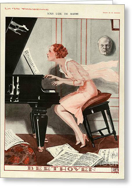 La Vie Parisienne 1930 1930s France Cc Greeting Card by The Advertising Archives