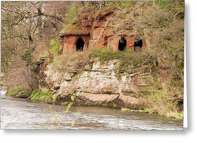 Lacy's Caves On The River Eden Greeting Card by Ashley Cooper