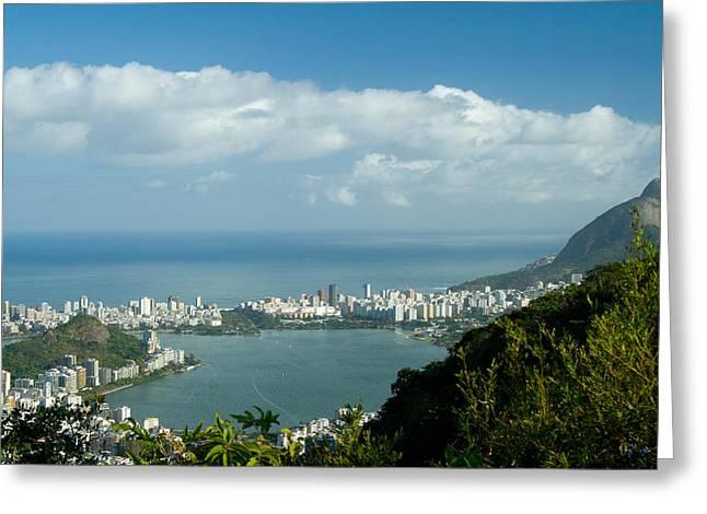 Lagoa Rodrigo De Freitas In Rio De Janeiro Greeting Card