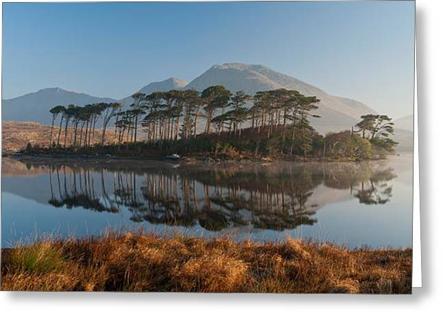 Lake At Dawn, Derryclare Lake Greeting Card by Panoramic Images