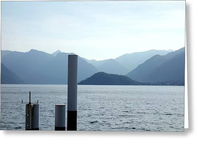 Lake Como Greeting Card by Valentino Visentini