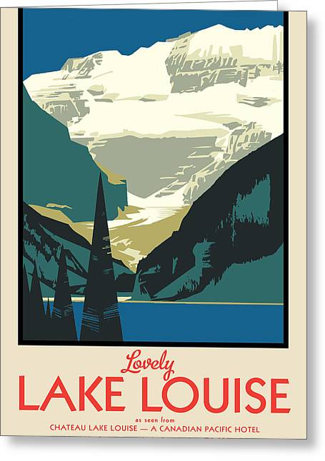 Lake Louise Greeting Card by Gary Grayson