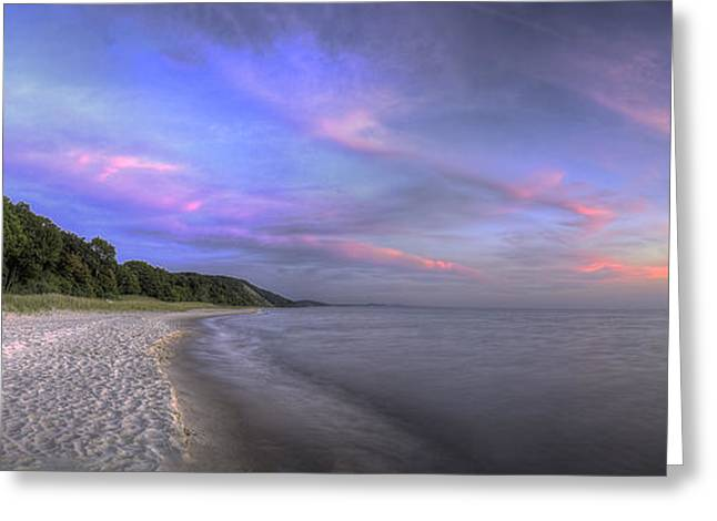 Lake Michigan Sunset Greeting Card by Twenty Two North Photography