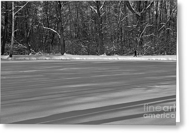 Lake Under Snow Greeting Card by Dariusz Gudowicz