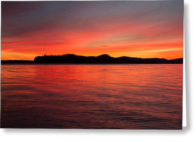 Lake Winnipesaukee Greeting Card by Robert Clifford