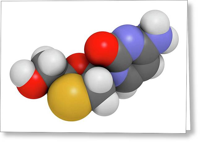 Lamivudine Antiviral Drug Molecule Greeting Card by Molekuul