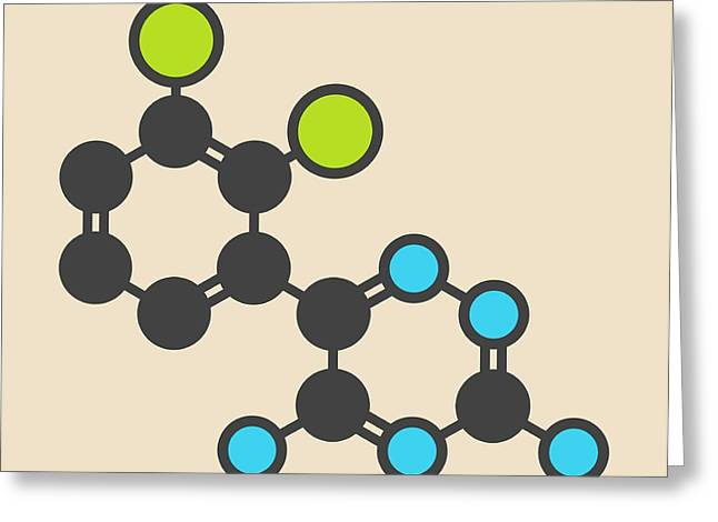 Lamotrigine Seizures Drug Molecule Greeting Card by Molekuul