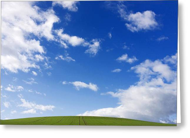 Landscape In France Greeting Card by Bernard Jaubert