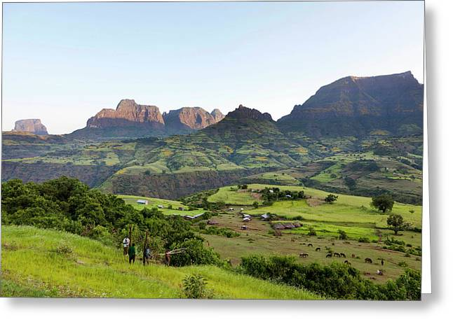 Landscape Near The Escarpment Greeting Card