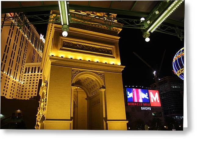 Las Vegas - Paris Casino - 12128 Greeting Card by DC Photographer