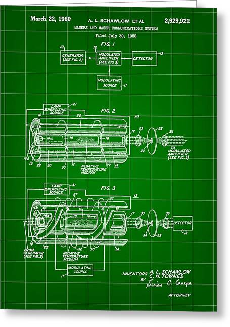 Laser Patent 1958 - Green Greeting Card
