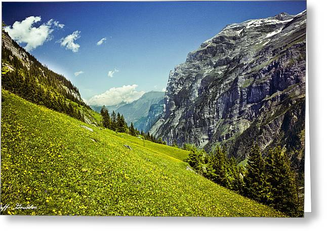 Greeting Card featuring the photograph Lauterbrunnen Valley In Bloom by Jeff Goulden