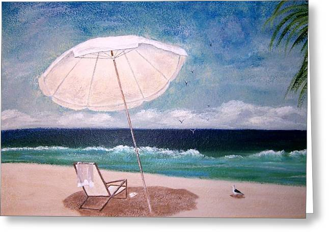 Greeting Card featuring the painting Lazy Day by Jamie Frier