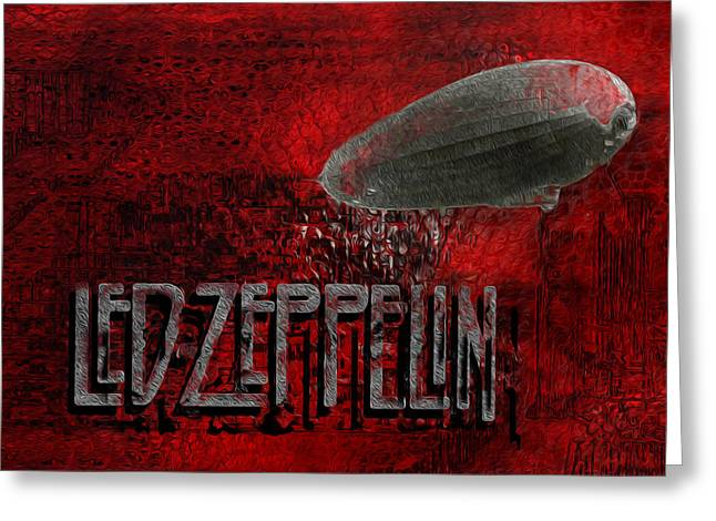 Led Zeppelin Greeting Card by Jack Zulli