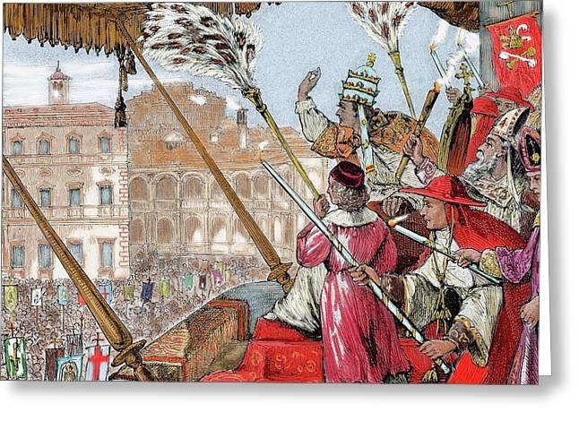 Leo X (1475-1521 Greeting Card