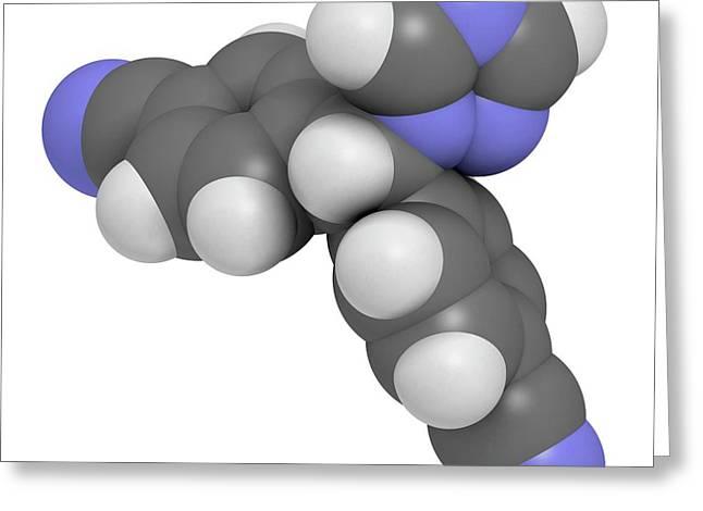 Letrozole Breast Cancer Drug Molecule Greeting Card