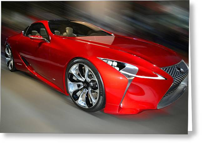 Lexus L F - L C Hybrid  2013 Greeting Card
