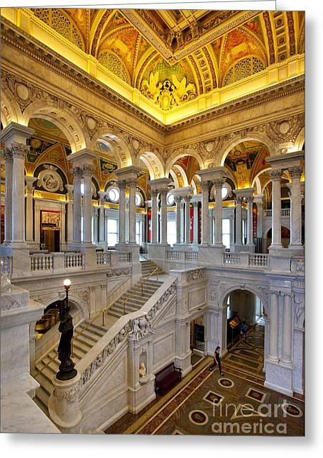 Library Of Congress Greeting Card by Brian Jannsen