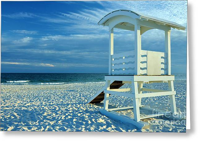 Lifeguard Hut On Beach Greeting Card by Danny Hooks