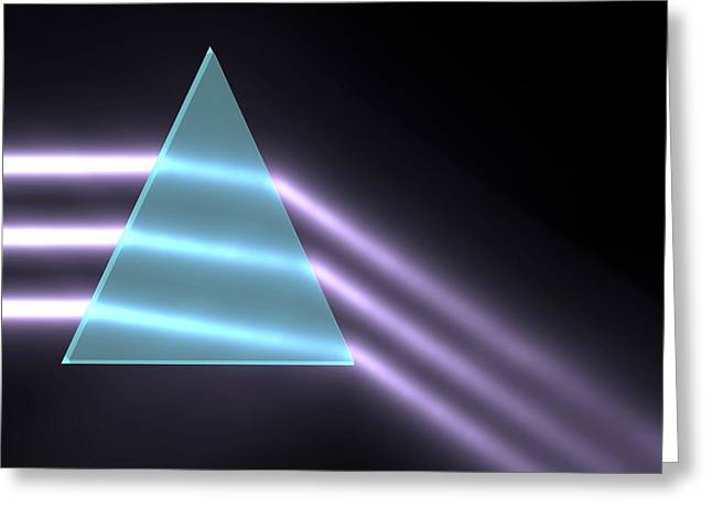 Light Refraction With Prism Greeting Card