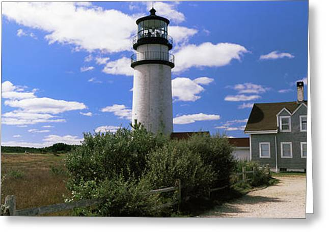 Lighthouse In The Field, Highland Greeting Card by Panoramic Images