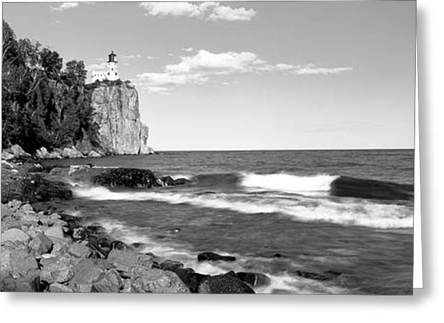 Lighthouse On A Cliff, Split Rock Greeting Card