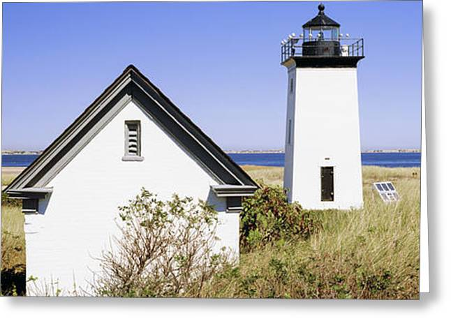 Lighthouse On The Beach, Long Point Greeting Card by Panoramic Images