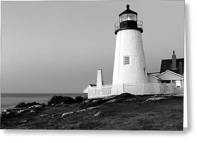 Lighthouse On The Coast, Pemaquid Point Greeting Card by Panoramic Images