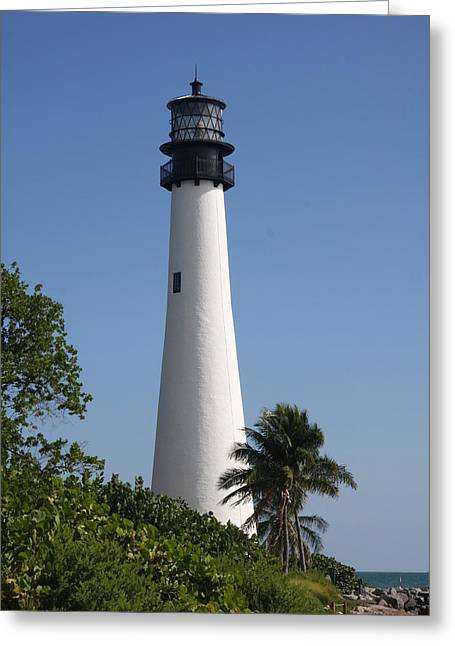 Ligthouse - Key Biscayne Greeting Card by Christiane Schulze Art And Photography