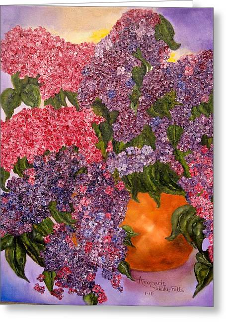 Lilacs Galore Greeting Card