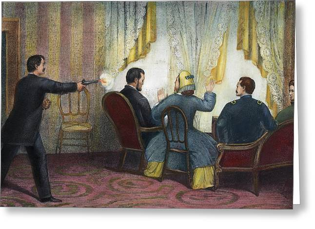 Lincoln Assassination, 1865 Greeting Card by Granger