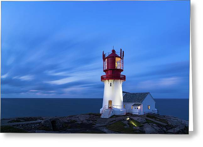 Lindesnes Fyr - Lighthouse In The South Of Norway Greeting Card