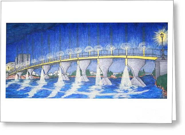 Lit Bridge Greeting Card