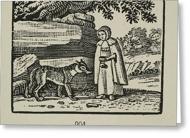 Little Red Riding Hood Greeting Card by British Library