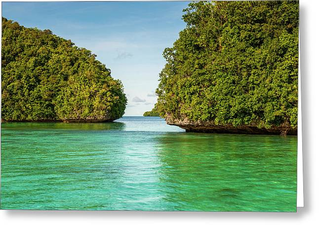 Little Rock Islet In The Famous Rock Greeting Card by Michael Runkel