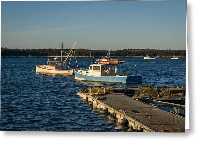 Lobster Boats Maine  Greeting Card