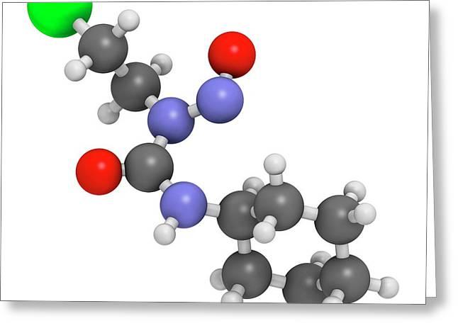 Lomustine Brain Cancer Chemotherapy Drug Greeting Card by Molekuul