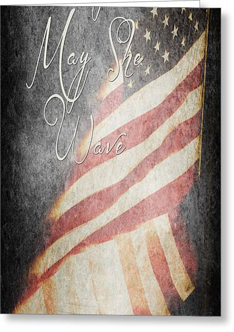 Long May She Wave Greeting Card