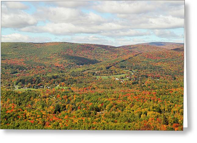 Looking Out Over The Autumn Landscape Greeting Card by Susan Pease