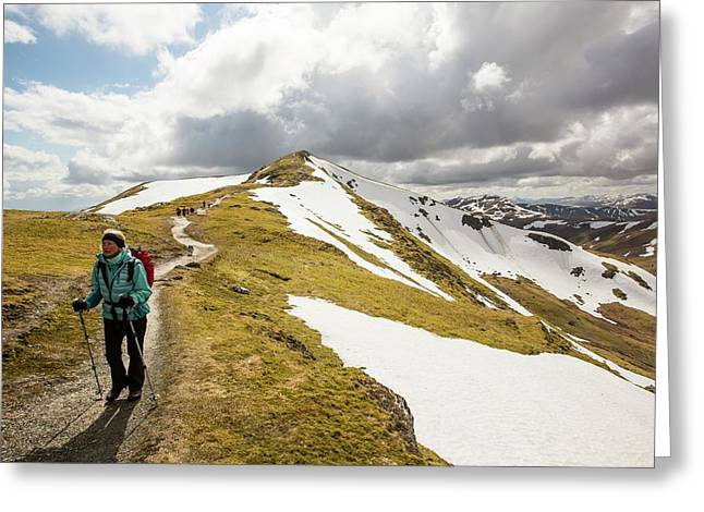 Looking Towards Beinn Ghlas Greeting Card by Ashley Cooper