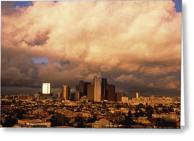 Los Angeles Ca Usa Greeting Card by Panoramic Images