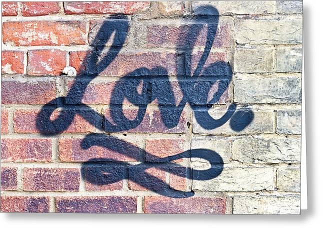 Love Graffiti Greeting Card by Tom Gowanlock