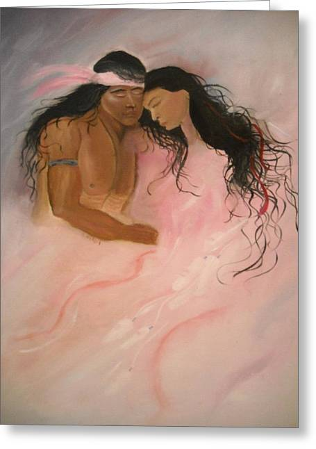 Lovers Greeting Card by Marian Hebert