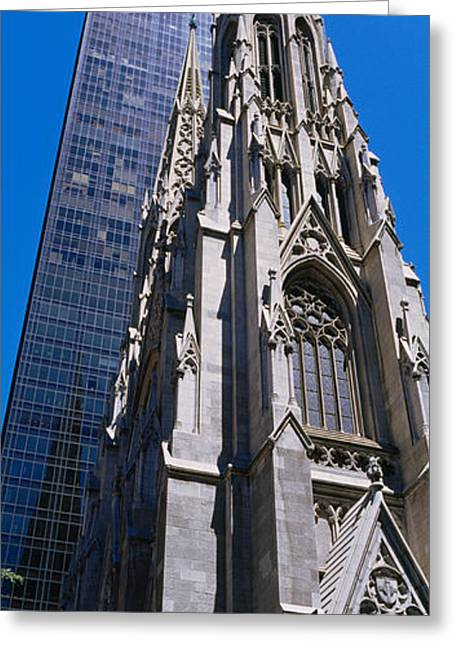 Low Angle View Of A Cathedral, St Greeting Card by Panoramic Images