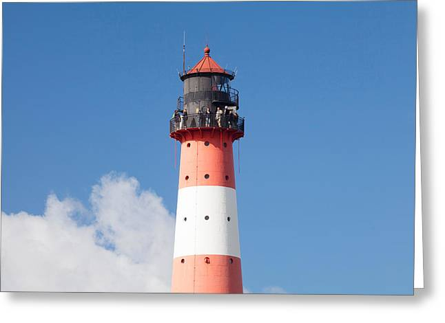 Low Angle View Of A Lighthouse Greeting Card by Panoramic Images