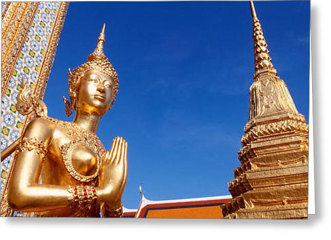 Low Angle View Of A Statue, Wat Phra Greeting Card